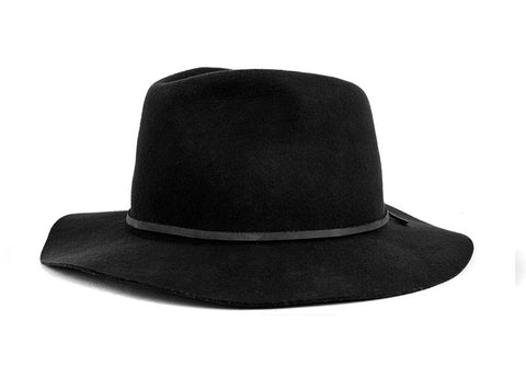 Brixton - Wesley Fedora, Black - The Giant Peach