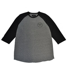 Brixton - Wheeler Men's 3/4 Sleeve Tee, Heather Grey/Black - The Giant Peach