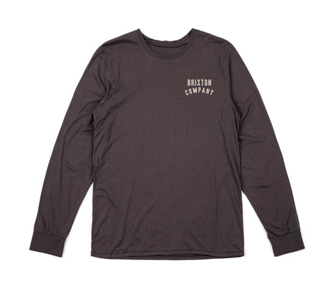 Brixton - Woodburn Men's Premium L/S Tee, Washed Black
