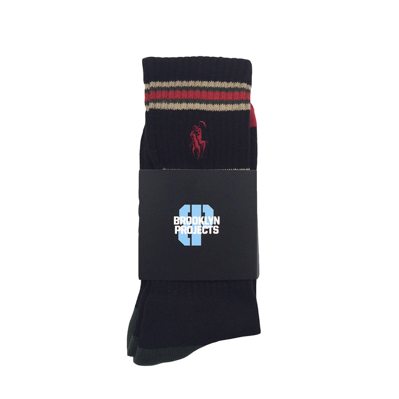 Brooklyn Projects - Reaper OG Striped Socks, Black/Red/Green