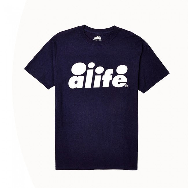 Alife - Bubble Logo Men's Shirt, Eclipse Blue - The Giant Peach