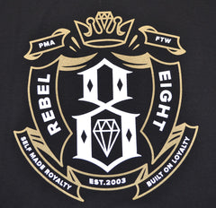 REBEL8 - Built On Loyalty Men's Shirt, Black - The Giant Peach