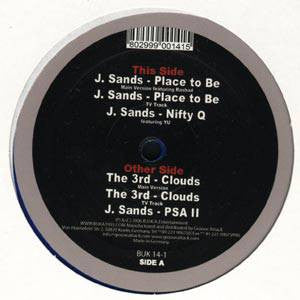 "J. Sands - Place To Be b/w Saturday Night, 12"" Vinyl"