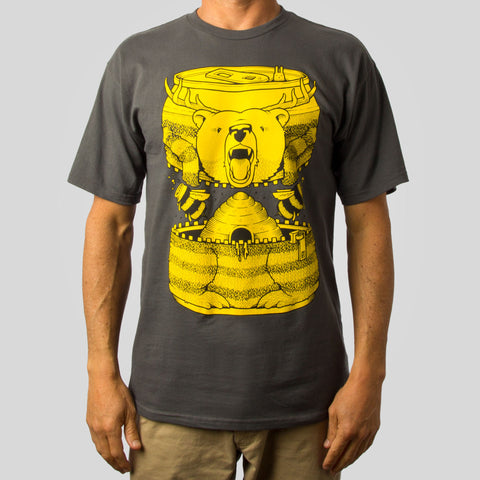 SuperFishal (Jeremy Fish) - Bumble Beer Men's Shirt, Charcoal
