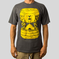 SuperFishal (Jeremy Fish) - Bumble Beer Men's Shirt, Charcoal - The Giant Peach