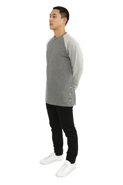 Akomplice -  Button Rag Men's Crew, Grey - The Giant Peach - 1