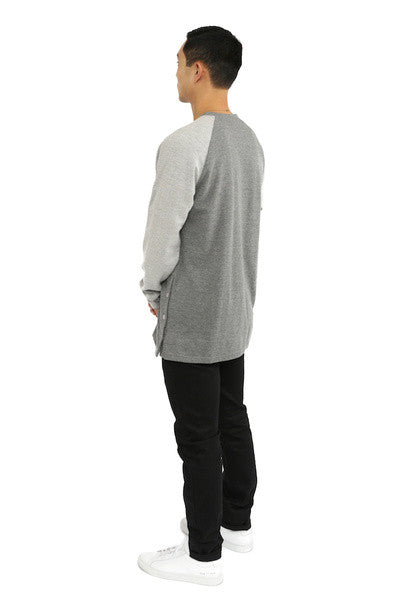 Akomplice -  Button Rag Men's Crew, Grey - The Giant Peach - 2