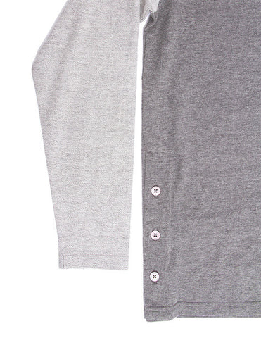 Akomplice -  Button Rag Men's Crew, Grey