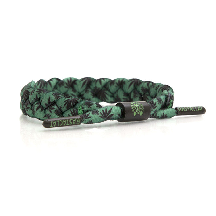 Rastaclat - Cali Shoelace Bracelet, Green/Black - The Giant Peach