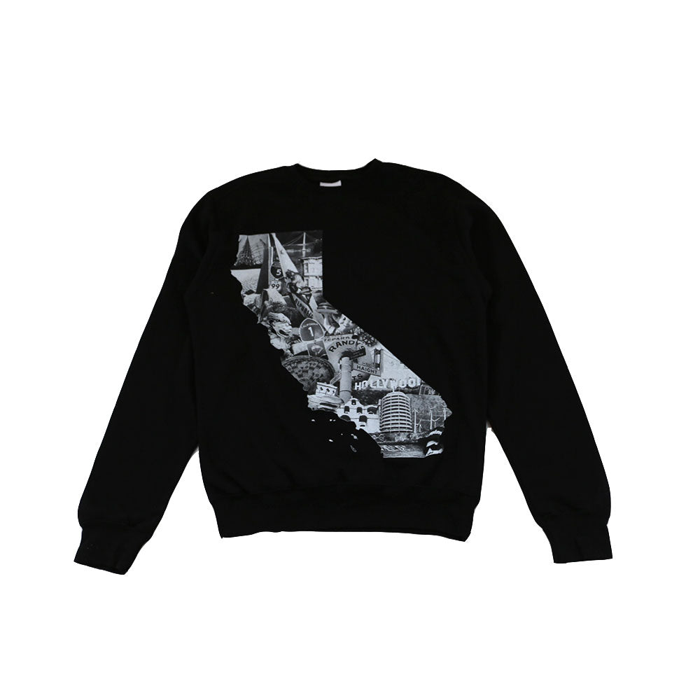 CALI - Men's Cali Photo Crewneck Sweatshirt, Black