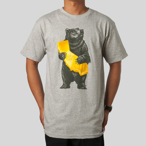 Upper Playground - Cali Bear Men's Shirt, Heather Gray