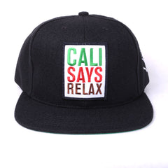 TRUE - Relax 6 Panel Snapback Hat, Black - The Giant Peach