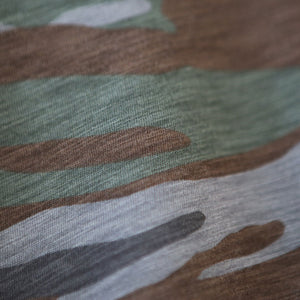 close up of camo fabric