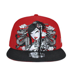 tokidoki - Camo Geisha Snapback Hat, Red - The Giant Peach