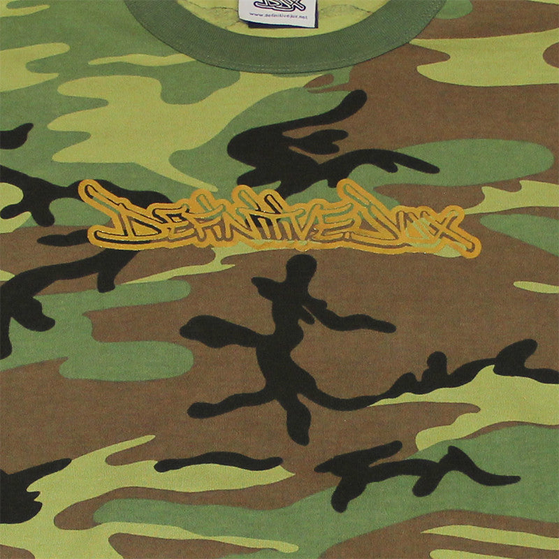 Definitive Jux - Gold Logo Long Sleeved Men's Shirt, Camo - The Giant Peach - 2