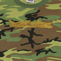 Definitive Jux - Gold Logo Long Sleeved Men's Shirt, Camo - The Giant Peach