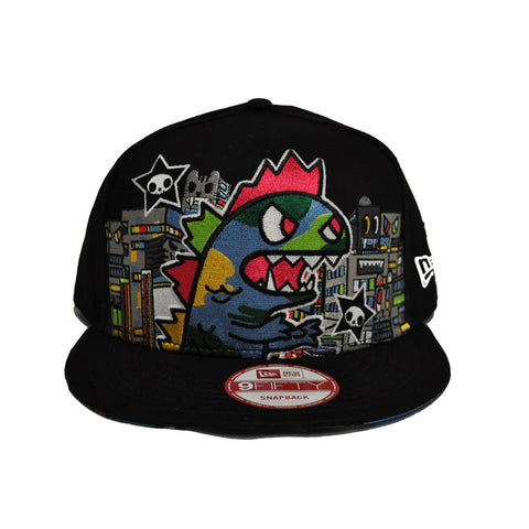 tokidoki - Camo Kaiju Snapback Hat, Black - The Giant Peach