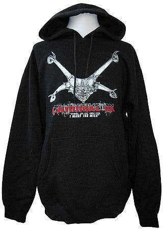 Cannibal Ox - Logo Hoodie, Heather Charcoal