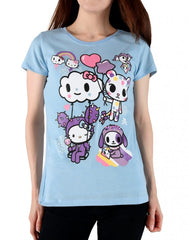 tokidoki  x Hello Kitty Candy Clouds Women's Tee, Blue - The Giant Peach