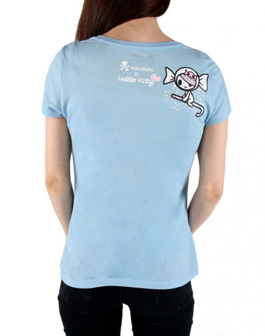 tokidoki  x Hello Kitty Candy Clouds Women's Tee, Blue