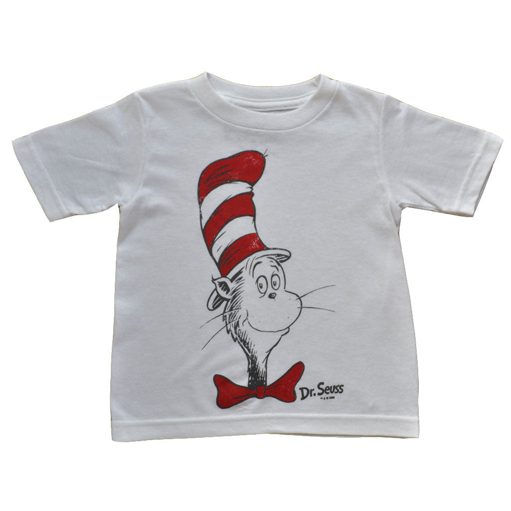 Dr. Seuss - Cat In The Hat Toddler Tee, White - The Giant Peach
