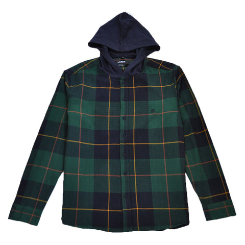 10Deep - CB's Hooded Men's Flannel, Evergreen