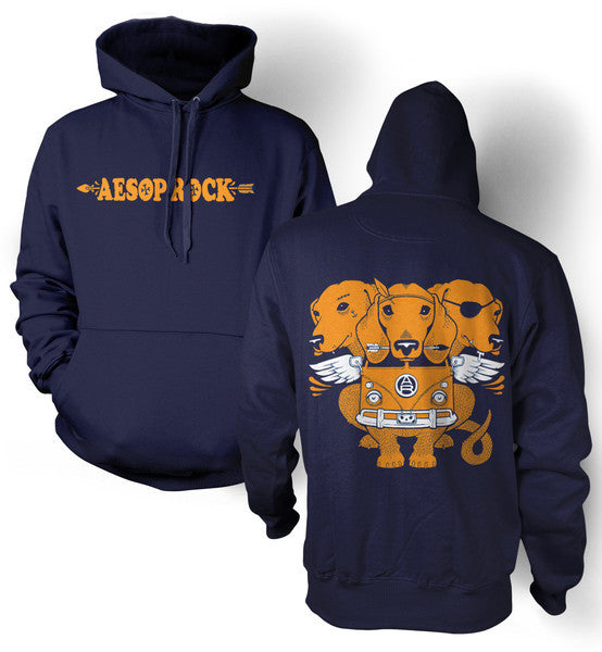 Aesop Rock - Cerberus Women's Hoodie,  Navy - The Giant Peach