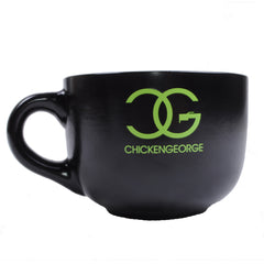 DJ Chicken George - Peddlin Jazztronica Soup Mug, Black - The Giant Peach