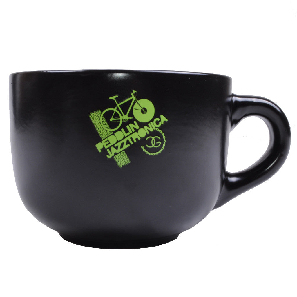 DJ Chicken George - Peddlin Jazztronica Soup Mug, Black - The Giant Peach - 1