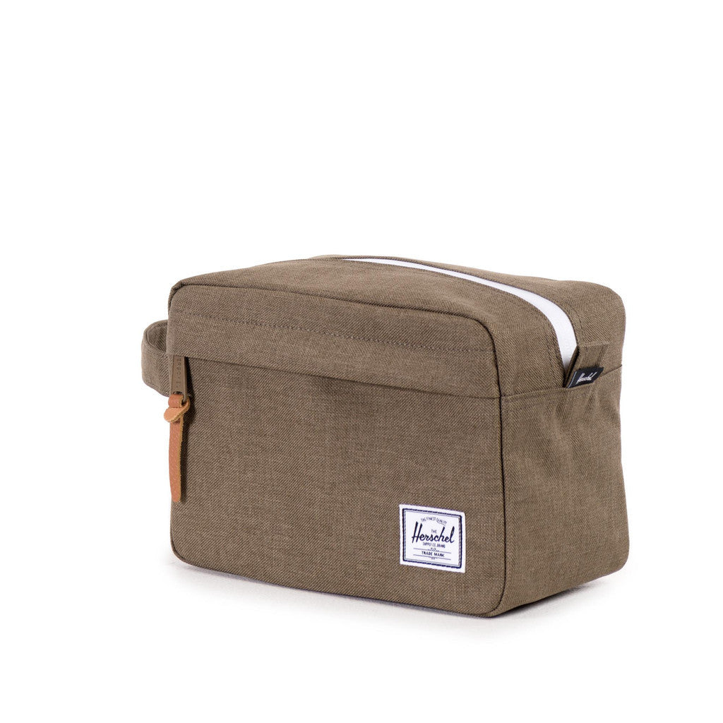 Herschel Supply Co -  Chapter Travel Kit, Crosshatch Beech - The Giant Peach
