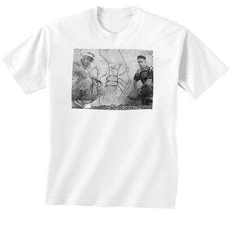 Charizma & Peanut Butter Wolf - BW Photo Men's Shirt, White - The Giant Peach
