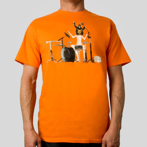 Fifty24SF Gallery - David Choe Next Level Beats Men's Shirt, Orange