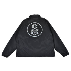 REBEL8 - Circle 8 Men's Coaches Jacket, Black - The Giant Peach