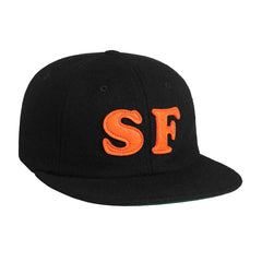 HUF - City (SF) 6 Panel Hat, Black - The Giant Peach