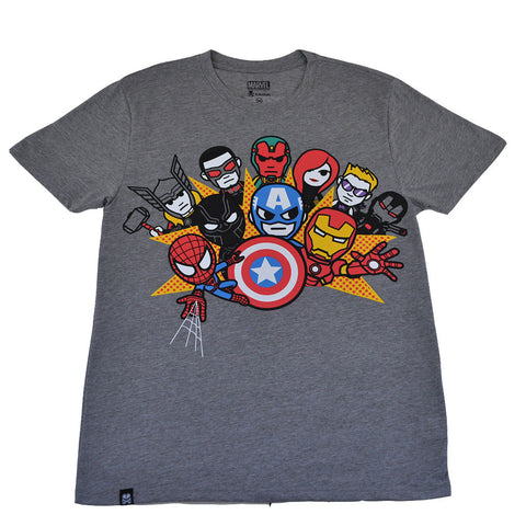 tokidoki TKDK - Civil War Men's Shirt, Light Heather Grey