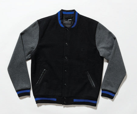 The Quiet Life - Classic Men's Coach Jacket, Black/Charcoal - The Giant Peach