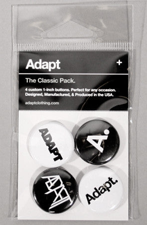Adapt - The Classic Pack Pin Pack, Black and White