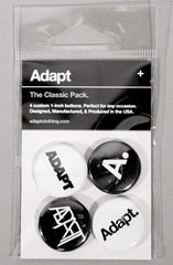 Adapt - The Classic Pack Pin Pack, Black and White - The Giant Peach