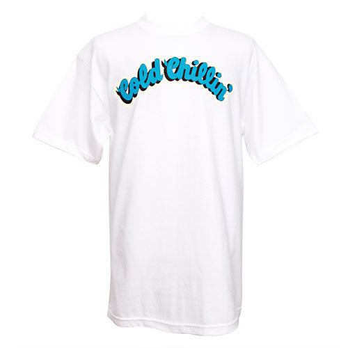 Cold Chillin' - Logo Men's Shirt, White - The Giant Peach