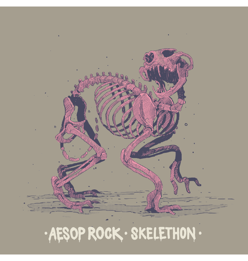 Aesop Rock - Skelethon Women's Hoodie, Concrete - The Giant Peach - 2