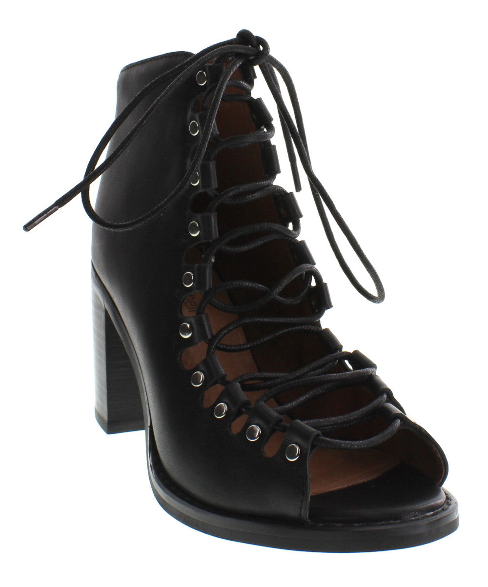 Jeffrey Campbell - Cordova Leather Bootie, Black - The Giant Peach - 2
