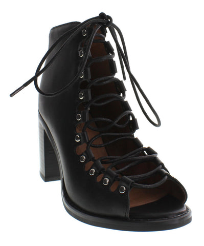 Jeffrey Campbell - Cordova Leather Bootie, Black