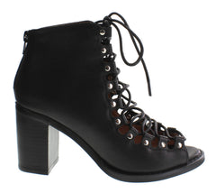Jeffrey Campbell - Cordova Leather Bootie, Black - The Giant Peach - 1
