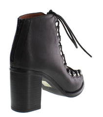 Jeffrey Campbell - Cordova Leather Bootie, Black - The Giant Peach
