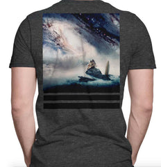 Imaginary Foundation - Cosmic Ocean Men's Shirt, Charcoal - The Giant Peach