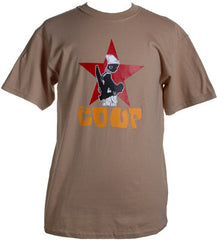 The Coup - Official Shirt, Khaki - The Giant Peach