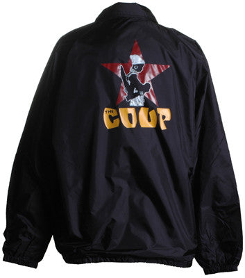 The Coup - Official Logo Windbreaker Jacket, Black