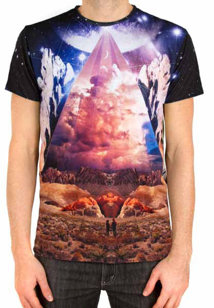 Imaginary Foundation - Couple'Topia Sublimation Men's Tee - The Giant Peach
