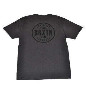 Brixton - Cowen Men's S/S Standard Tee, Washed Black/Black - The Giant Peach