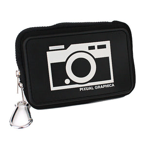 Japan Benefit - Pixual Graphica Embossed Camera Case, Black - The Giant Peach